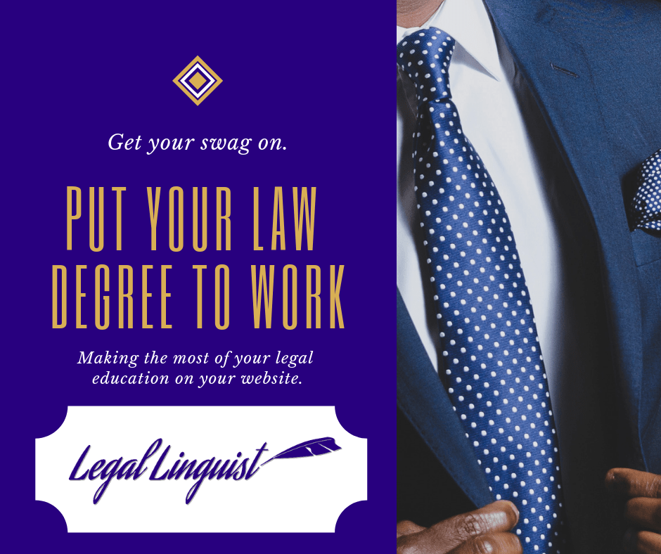 Put Your Law Degree to Work for Your Website